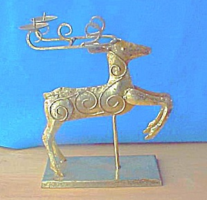 Golden Reindeer Candle Holder (Image1)