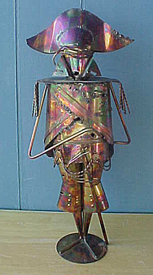 Abstract Tin Napoleon Figure (Image1)
