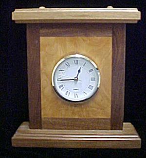 Wood Inlaid Mantel Quartz Clock (Image1)