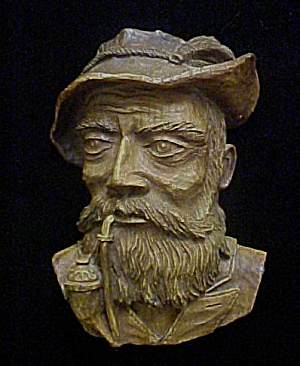 Vintage German Man W/pipe - Wall Decor