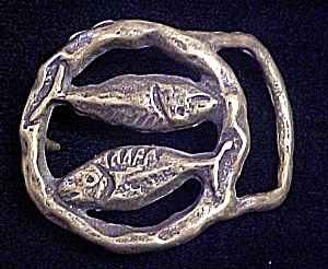 Vintage Pisces Metal Belt Buckle