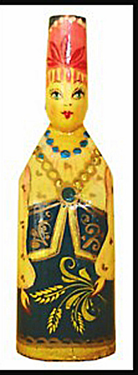 USSR Folk Art Figure Ornament (Image1)