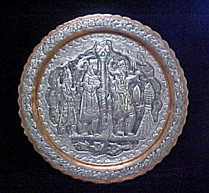 Biblical Three Kings Metal Work Display Plate (Image1)
