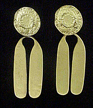 Vintage Gold-Toned Pierced Earrings (Image1)