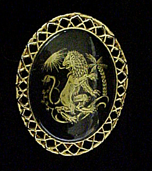 Lion Pin - Black/gold By Cinerama