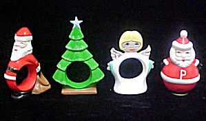 Assorted Ceramic Holiday Napkin Rings