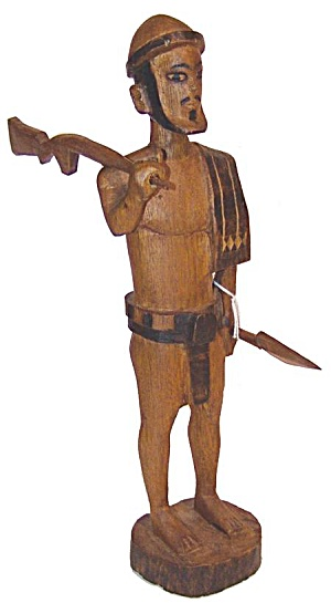 Mystery Warrior w/Helmet, Spear and Rifle (Image1)