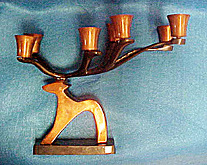 Metal Reindeer Candle Holder - India (Image1)