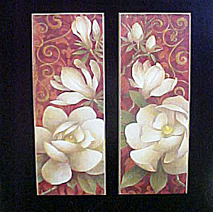 Pair of Art Prints - Delicate Magnolias (Image1)