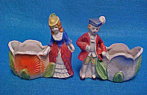 Boy And Girl Open Ceramic Salt Cellars
