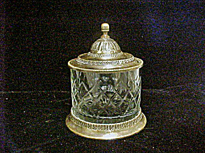 Glass-Brass Tobacco Jar Humidor (Image1)