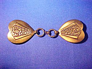 Vintage  Heart Belt/Coat Clasp (Image1)