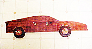 Folk Art Wooden Automobile - Clothes Rack