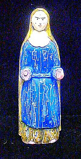 Santo Saint Mary Carved Wooden Figure (Image1)