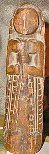 Wood Naga Female Figure From Nagaland, India