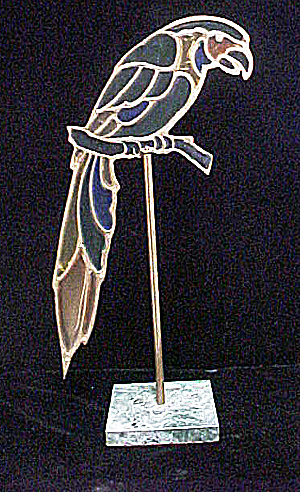 Stained Glass Style Parrot