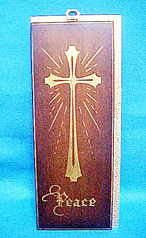 Peace Plaque - Hand Crafted Original w/Cross (Image1)