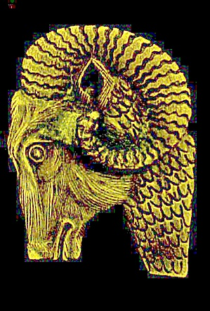 Metal Ram Long Horn Sheep Belt Buckle (Image1)
