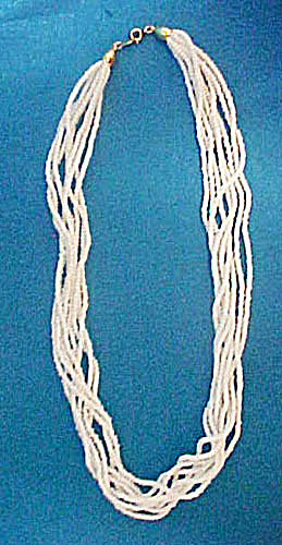 White Multi-strand Summer Necklace