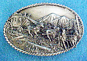 Western Belt Buckle - Long Rider of the West (Image1)