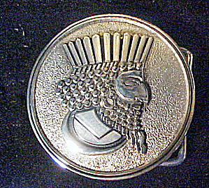 Mythical King Silver-Toned Metal Belt Buckle (Image1)