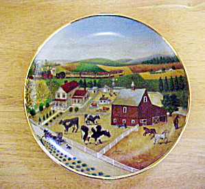 American Folk Art - Country Journeys Plate (Image1)
