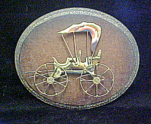 Carriage Sculpture - Metal Art on Plaque (Image1)
