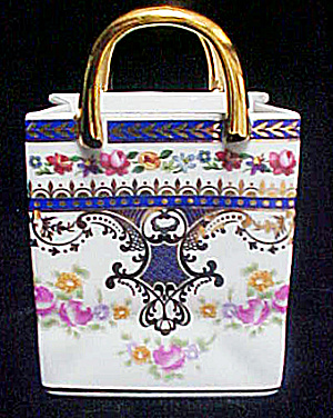 Porcelain Tote Featuring Floral Design