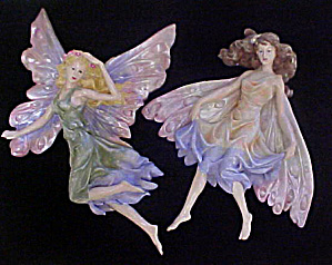 Two Fairies Figurine Wall Art