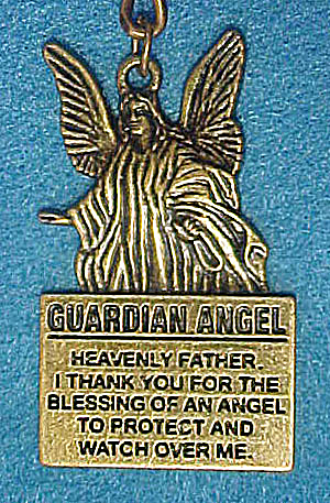 Guardian Angel Brass Key Chain (Image1)