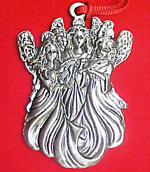 Three Angels - Pewter Mini Ornament (Image1)
