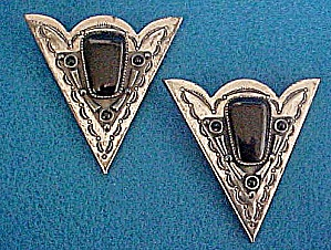 Onyx Collar Tips - Western Accessories (Image1)