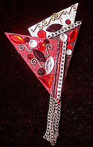 Modernistic Acrylic Triangles Pin