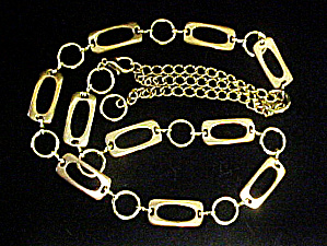 Gold Toned Link Belt (Image1)