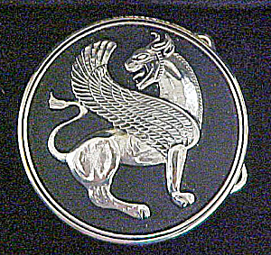 Mythical Lion Belt Buckle w/Jewelry Case (Image1)