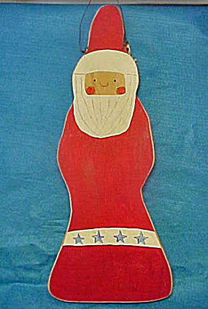 Santa Clause - Primitive Wooden (Image1)