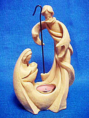 Holy Family Tea Light Holder