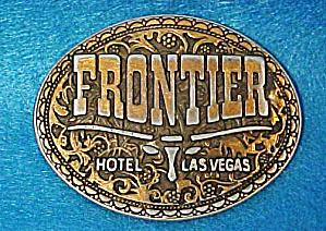 Frontier Hotel Las Vegas Metal Belt Buckle (Image1)
