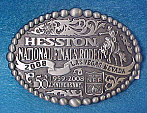 Hesston Nat'l Final Rodeo 2008 Belt Buckle (Image1)