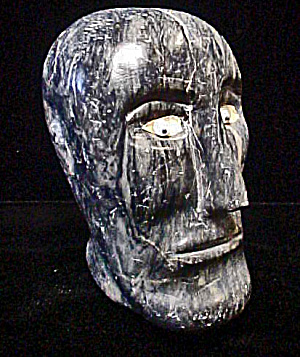 Inuit Male Head Sculpture