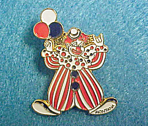 Clown Pin - Enameled/from Montana