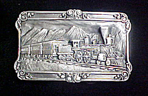 Railroad Train Belt Buckle - Siskiyou (Image1)