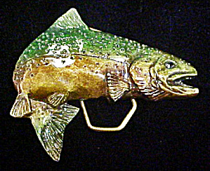 Fish Belt Buckle - Indiana Metal Craft