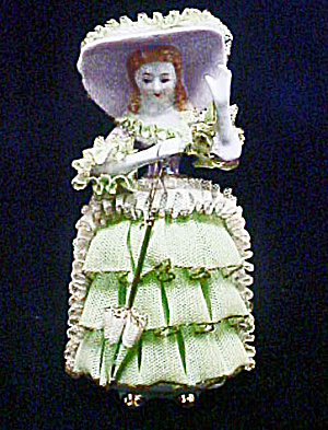 China Lace Victorian Figurine - Japan