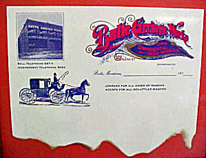 Butte, Montana Carriage Works Letterhead  (Image1)