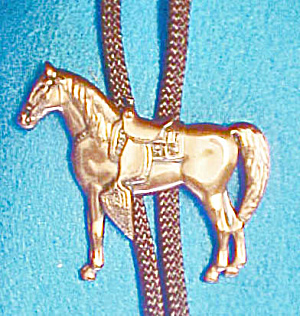 Copper-Toned Standing Horse Bolo Tie (Image1)