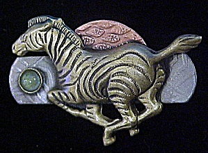 Metal Zebra Pin