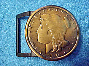 Ancient Coin Style Belt Buckle - Vintage (Image1)