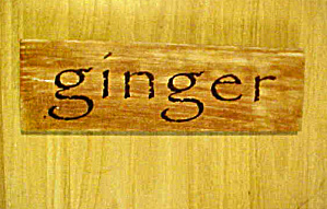 Ginger Wooden  Spice Sign  (Image1)