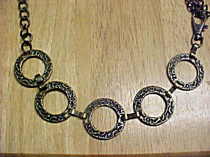 Metal Hammered Rings Belt (Image1)